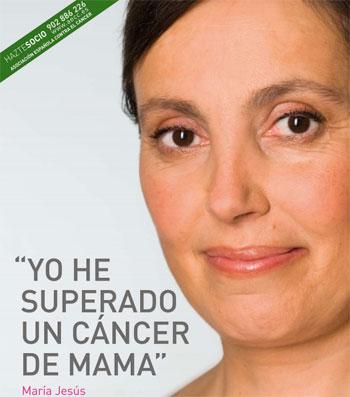 """Cartel Campaña Contra el Cáncer de Mama 2011 - """"Yo he superado el cáncer de mama"""""""