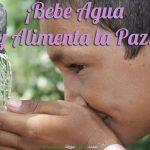 ¡Bebe Agua y Alimenta la Paz! Fotografía de Barefoot Photographers of Tilonia.