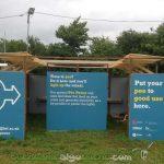 El prototipo de urinario del festival de Glastonbury genera la electricidad necesaria para encender seis tubos led. Foto: Bristol BioEnergy Centre