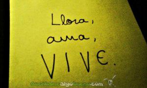 Llora, ama, VIVE