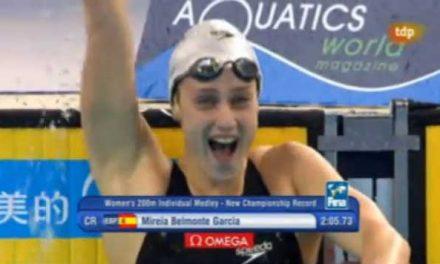 Mireia Belmonte la mejor nadadora del mundial de Dubai