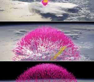Tormentas de antimateria captadas por la NASA