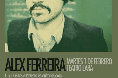 Álex Ferreira ofrecerá hoy un concierto solidario
