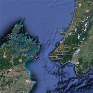 El Estrecho de Cook en Nueva Zelanda