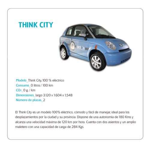 Vehículo 100% eléctrico Think City de la flota de Cochele