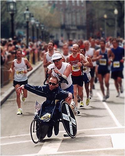 El Equipo Hoyt participando en una carrera