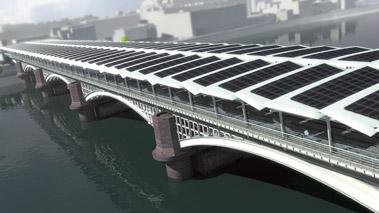 El puente solar más grande del mundo estará en Londres