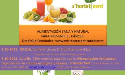 Próximos Talleres de Alimentación Anticáncer en Ibiza