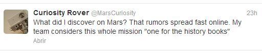 Curiosity podría haber encontrado vida en Marte