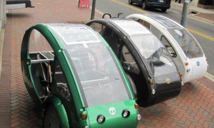 Inventan un vehículo mitad bici mitad coche eléctrico