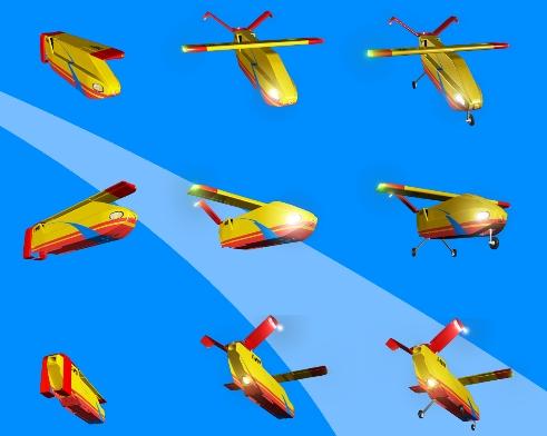 Drone para extinguir incendios de noche