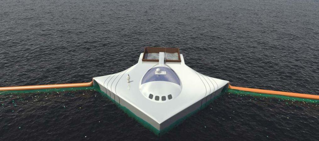 Un estudiante inventa un barco que recogería 7 millones de toneladas de basura del mar