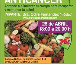 Próximo taller de Alimentación Anticáncer en Barcelona