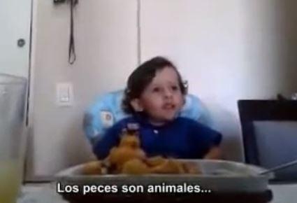 El niño que decidió no comer más animales