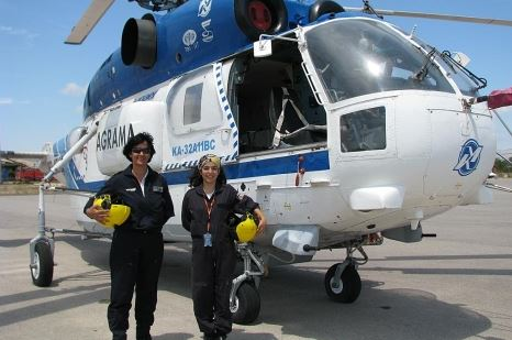 La primera tripulación de helicóptero femenina de Europa