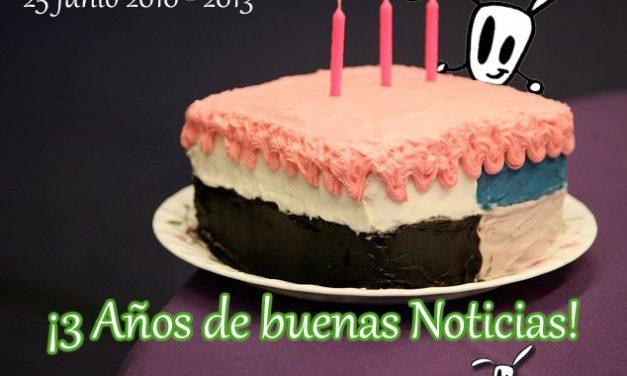 3 Años de Buenas Noticias en Cuentamealgobueno.com