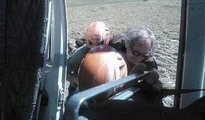 Rescatan en helicóptero un senderista herido a 2.400 metros de altitud en Güejar-Sierra