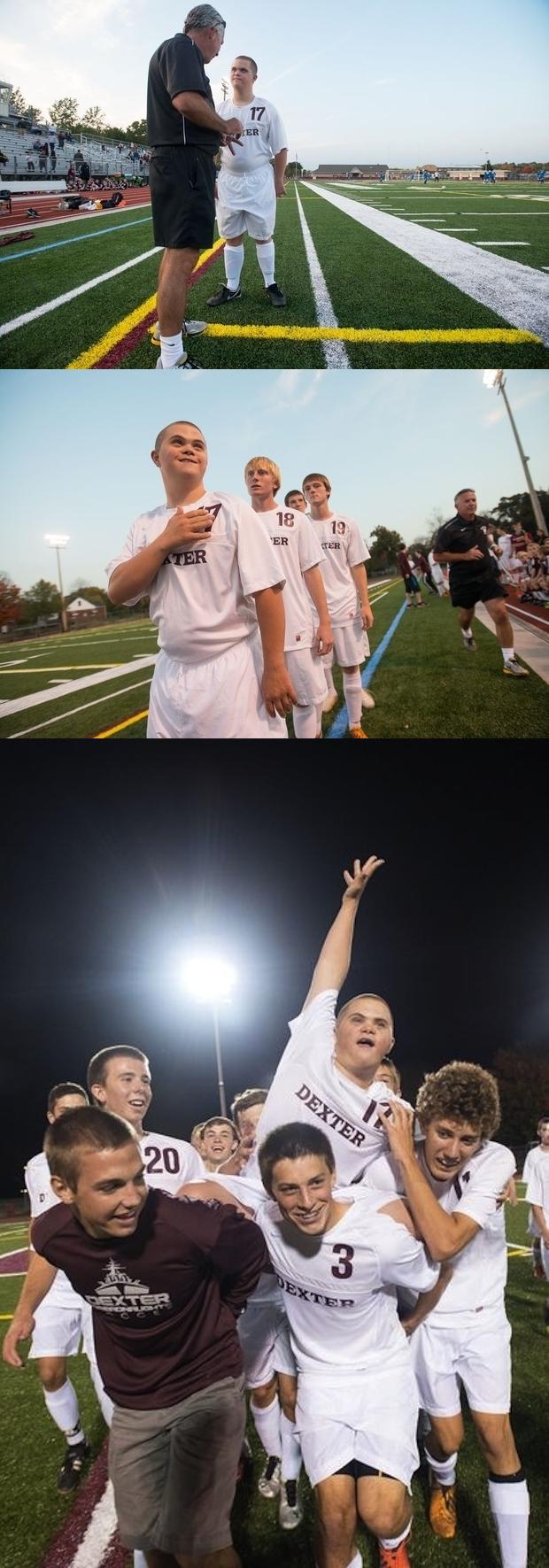 Equipo de fútbol de Michigan dándole a su Capitán con síndrome de Down una oportunidad para empezar