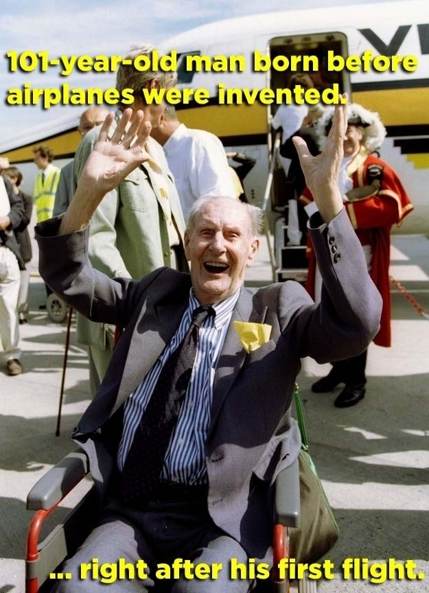 Hombre teniendo la oportunidad de volar por primera vez