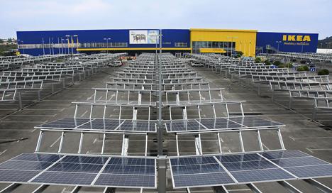 La energía solar fotovoltaica llega a los grandes almacenes
