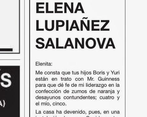 Un hombre publica cada año en un periódico una emotiva esquela dedicada a su mujer fallecida en 1994