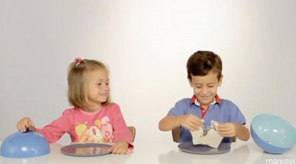 Los más pequeños saben compartir