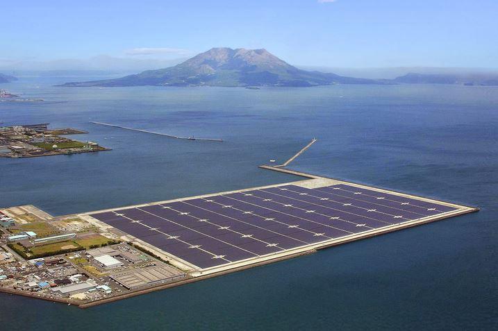 Construyen la planta de energía solar más grande de Japón