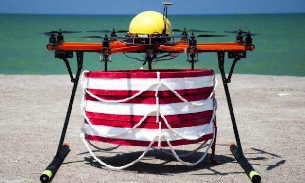 Drones para salvar vidas en el agua