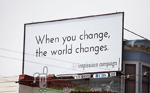 Uno de los mensajes positivos que The Inspiration Campaign ha colgado en San Francisco.