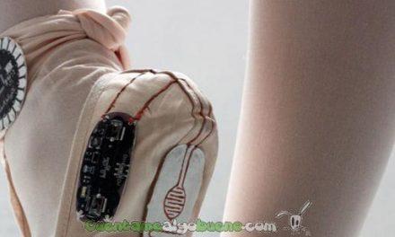 Electronic Traces, zapatillas de ballet que dibujan el movimiento