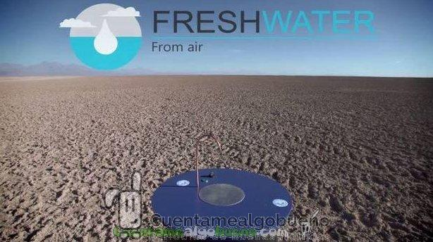 Fresh Water - Agua del aire. Agua para todos. Foto: freshwatersolutions.org.