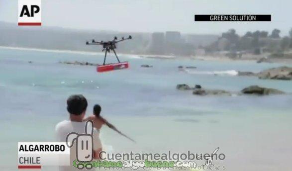 Usan drones para salvar vidas en las costas de Chile