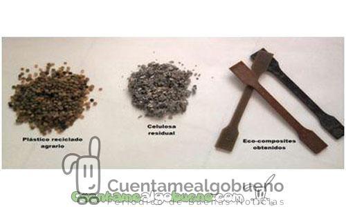 Fabrican eco-compuestos a partir de plásticos agrarios residuales