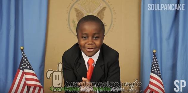 El 'niño presidente' y su discurso al optimismo