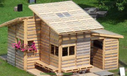 Una casa hecha con palets
