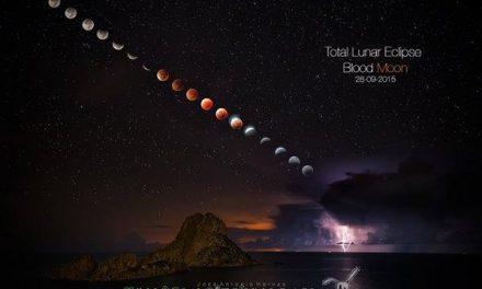 La mejor fotografía del eclipse de superluna tiene enfoque español