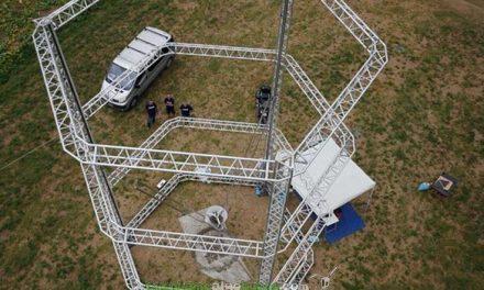 Construcción de casas con una Mega Impresora 3D