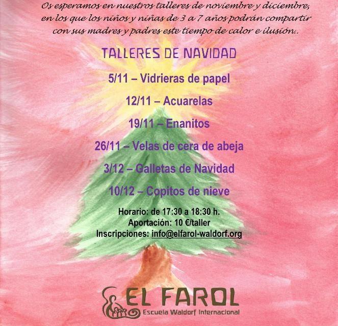 Talleres de Navidad en el Colegio Waldorf El Farol de Málaga