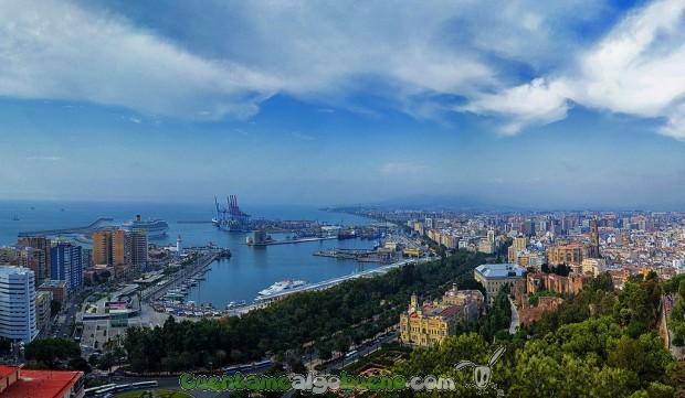 Málaga, a vista de pájaro. Fotografía de jesuscm.
