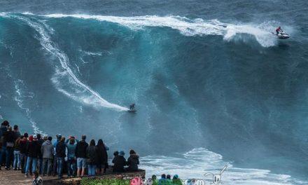 Sobre la cresta de una gran ola