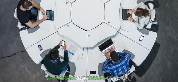 Una mesa para trabajar en equipo cuentamealgobueno for Diseno mesa de trabajo