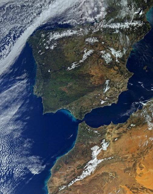 La península Ibérica al detalle desde el espacio