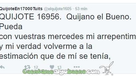 Publica El Quijote al completo en Twitter
