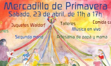 Mercadillo de Primavera en la escuela El Farol Waldorf de Málaga