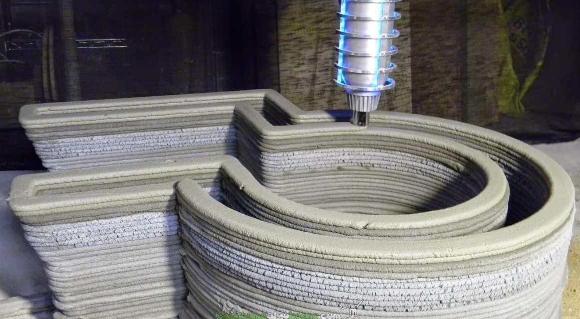 Fabrica un castillo con una impresora 3D de hormigón