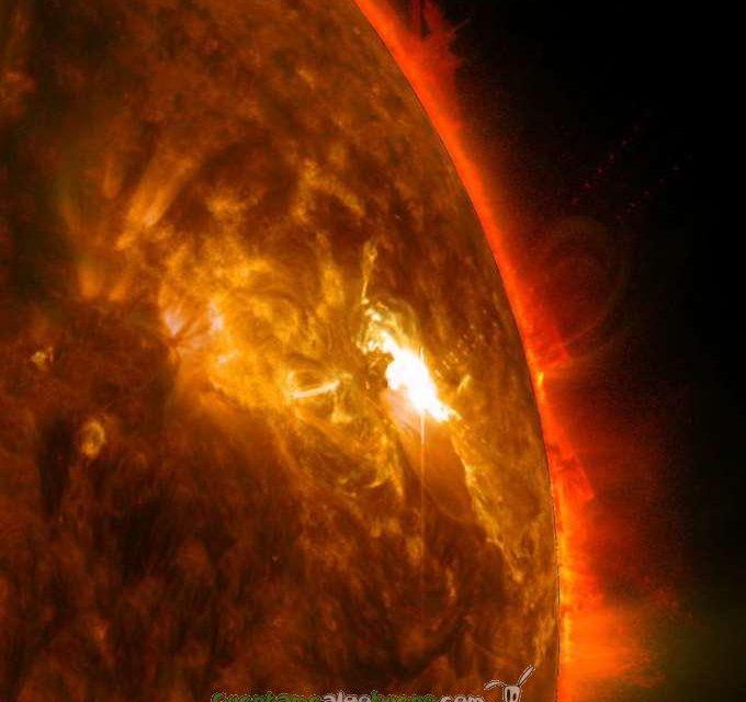 Espectaculares imágenes de erupción solar