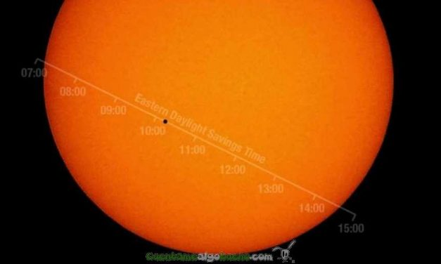 Mercurio entre la Tierra y el Sol