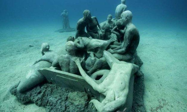 Un museo submarino en Lanzarote