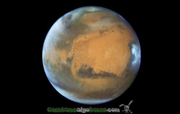 Marte fotografiado a 80 millones de kilómetros de la Tierra. Foto: NASA. Ver a máxima resolución.