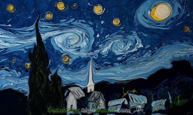 Van Gogh sobre agua oscura